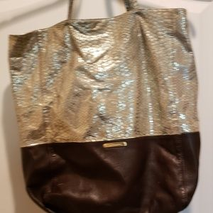 Brown leather and gold  cynthia Rowley bag